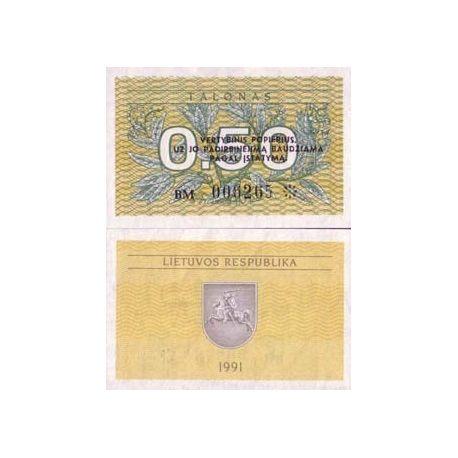 Billets banque Lituanie Pk N° 31 - 0.5 Talonas