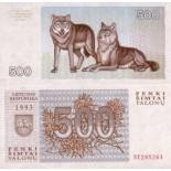 Banknote of collection Lithuania Pick N° 46 - 500 Talonu