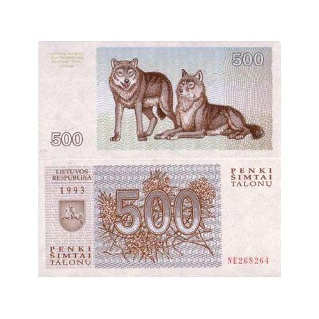 Billets de collection Billet de collection Lituanie Pk N° 46 - 500 Talonu Billets de Lituanie 2,00 €