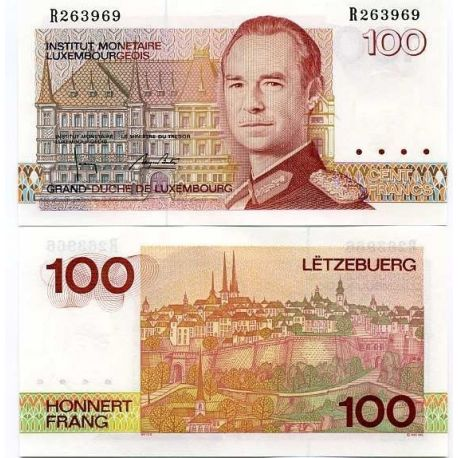 Luxembourg - Pk No. 58 - 100 note Franks