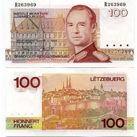 Billets de collection Billets de banque Luxembourg Pk N° 58 - 100 Francs Billets du Luxembourg 20,00 €