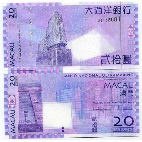 Macao - Pk N° 81 - Billet de 20 Patacas