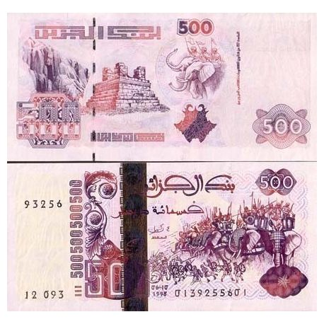 Billet de collection Algerie Pk N° 141 - 500 Dinars