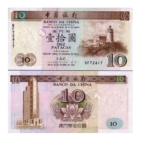 Macao - Pk N° 90 - Billet de 10 Patacas