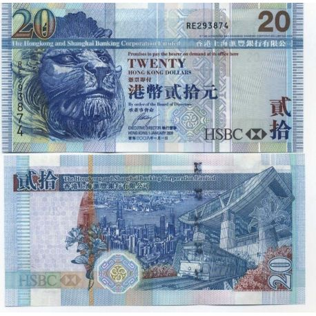 Billet de banque Macao Pk N° 9999 - 20 Patacas