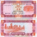 Billet de collection MACAO Pk N° 76 - 10 Patacas