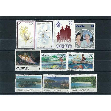 Vanuatu - 10 timbres différents