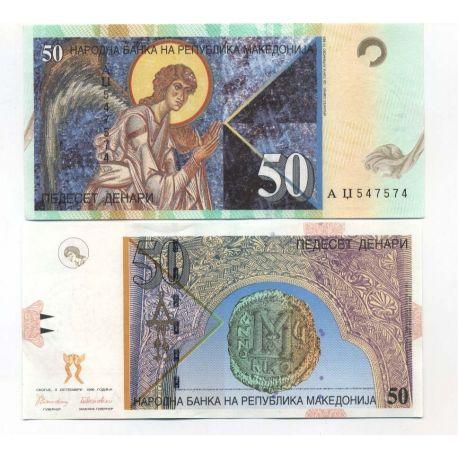 Billets de collection Billets de banque Macedoine Pk N° 15 - 50 Denari Billets de Macedoine 7,00 €