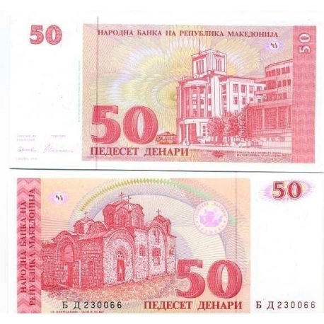 Billets de collection Billets banque Macedoine Pk N° 11 - 50 Denari Billets de Macedoine 9,00 €