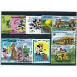 Collection de timbres Walt Disney Minnie oblitérés
