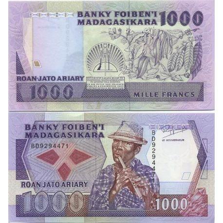 Madagascar - Pk: # 72 - Ticket 1000 ARIARY