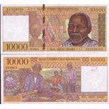 Collezione di banconote Madagascar Pick numero 79 - 10000 FRANC