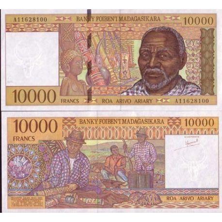 Billets de collection Billets de banque Madagascar Pk N° 79 - 10000 Francs Billets de Madagascar 10,00 €