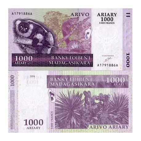 Madagascar - Pk: # 89 - 1000 Franks ticket