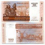 Billet de banque Madagascar Pk N° 88 - 500 Francs