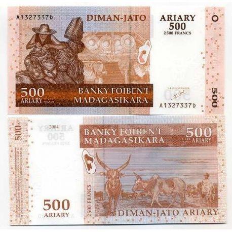 Billets de collection Billet de banque Madagascar Pk N° 88 - 500 Francs Billets de Madagascar 2,00 €