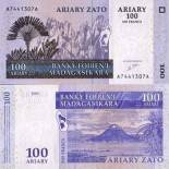 Collection of Banknote Madagascar Pick number 86 - 100 FRANC