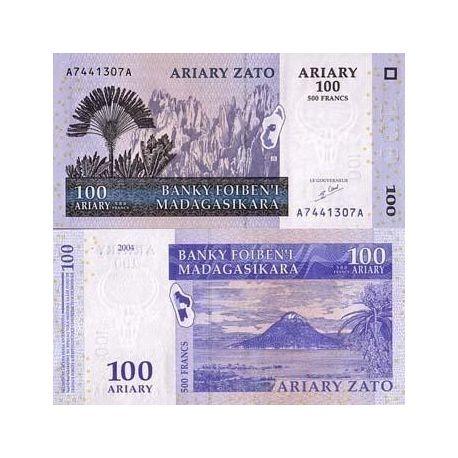 MADAGASCAR - Pk No. 86 - 100 note ARIARY