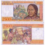 Billet de collection Madagascar Pk N° 81 - 2500 Francs