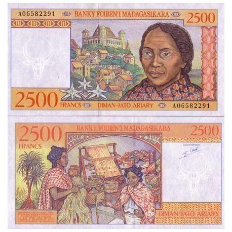 Madagascar - Pk N° 81 - Billet de 2500 Francs