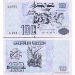 Beautiful banknote Algeria Pick number 137 - 100 Dinar 1992