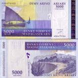 Bello banconote Madagascar Pick numero 84 - 5000 FRANC
