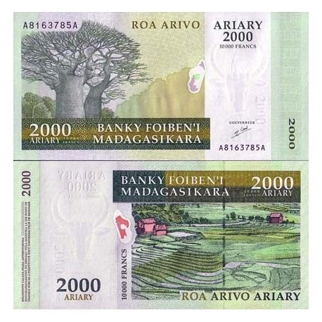MADAGASCAR - Pk N° 83 - Billet de 2000 ARYARY