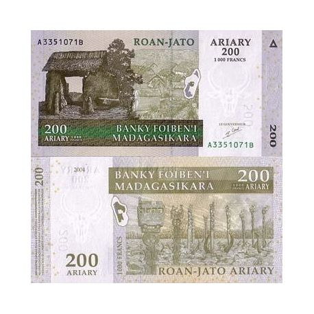 MADAGASCAR - Pk: # 87 - Ticket 200 ARIARY