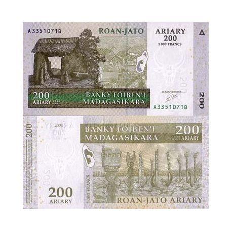 Billets de collection Billets collection MADAGASCAR Pk N° 87 - 200 ARIARY Billets de Madagascar 2,00 €
