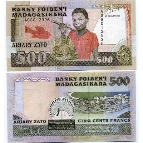 Billets de collection Billet de collection Madagascar Pk N° 71 - 500 Francs Billets de Madagascar 7,00 €