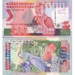 Colección Billetes Madagascar Pick número 77 - 2500 FRANC