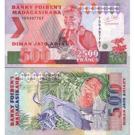 Billets de collection Billet de banque Madagascar Pk N° 77 - 2500 Francs Billets de Madagascar 7,00 €