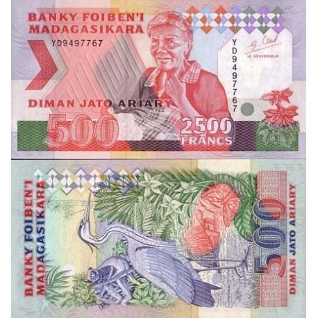 Madagascar - Pk N° 77 - Billet de 2500 Francs
