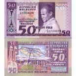 Bello banconote Madagascar Pick numero 62 - 50 FRANC