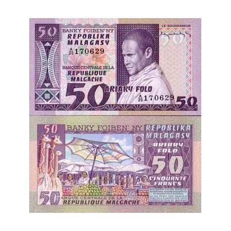 Madagascar - Pk: # 62 - 50 Note Franks