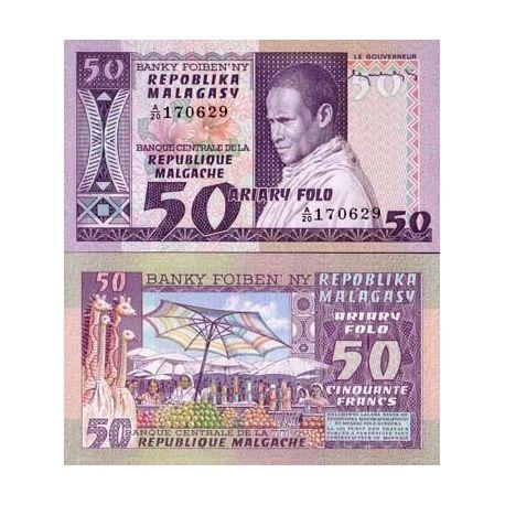 Madagascar - Pk N° 62 - Billet de 50 Francs