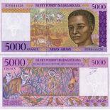 Banknote collection Madagascar Pick number 78 - 5000 FRANC