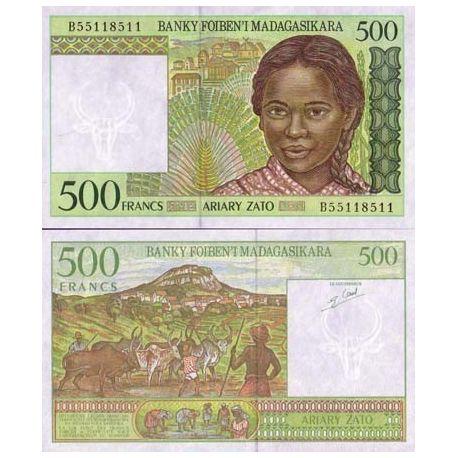 Billets de collection Billet de banque Madagascar Pk N° 75 - 500 Francs Billets de Madagascar 4,00 €