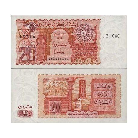 Billets de collection Billets de banque Algerie Pk N° 133 - 20 Dinars Billets d'Algerie 8,00 €