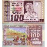 Banknoten Sammlung Madagaskar Pick Nummer 63 - 100 FRANC