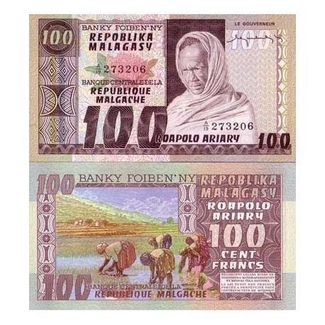 Madagascar - Pk N° 63 - Billet de 100 Francs