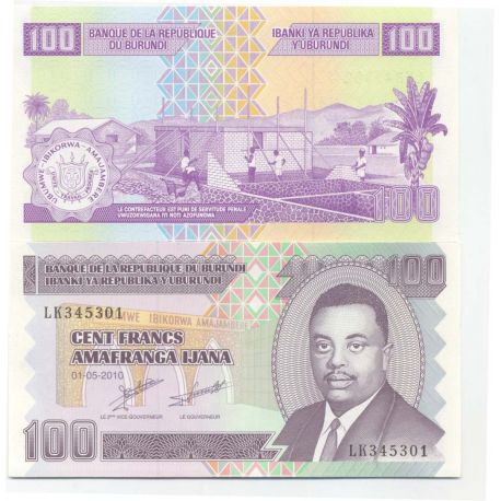 Billets de banque Burundi Pk N° 44 - 100 Francs