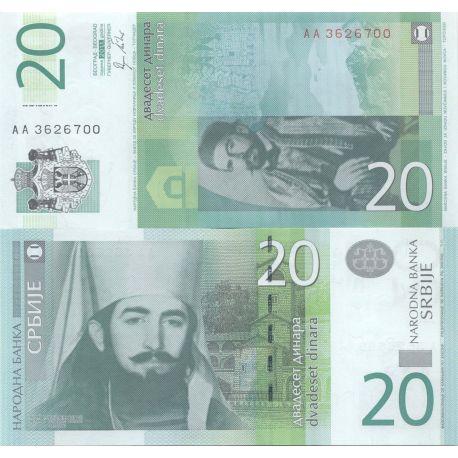 Billet de banque Serbie Pk N° 9999 - 20 Dinara