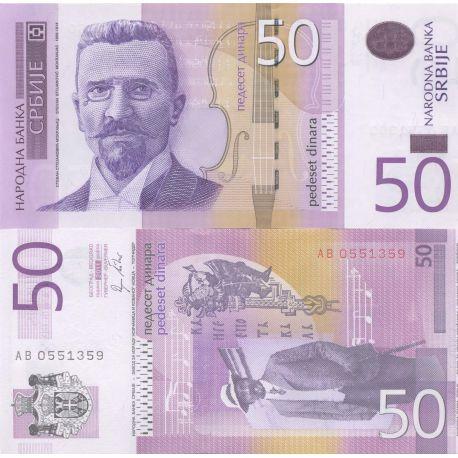 Billets de collection Billets banque Serbie Pk N° 56 - 50 Dinara Billets de Serbie 3,00 €