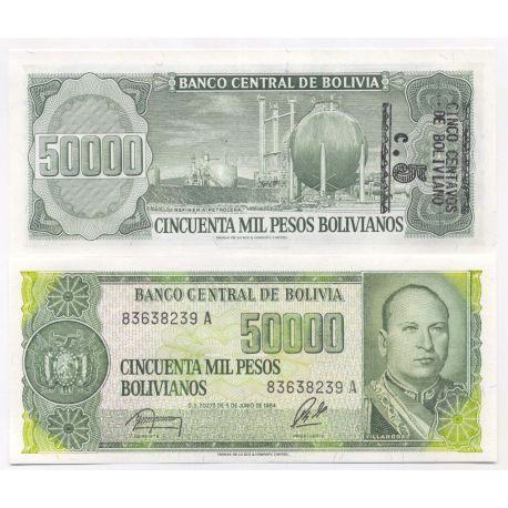 Billets de banque Bolivie Pk N° 196 - 50000 Pesos