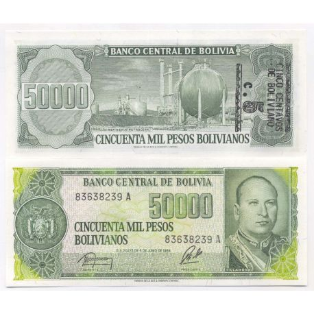 Bolivie - Pk N° 196 - Billet de 50000 Pesos
