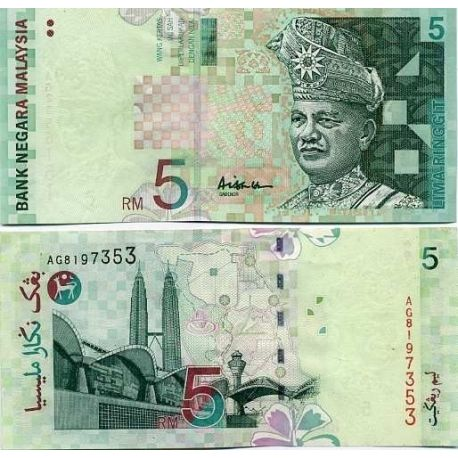 Billet de collection Malaisie Pk N° 41 - 5 Ringgit