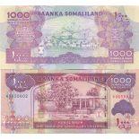 Los billetes de banco Somalilandia Pick número 20 - 1000 Shilling