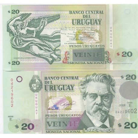 Billet de collection Uruguay Pk N° 9999 - 20 Pesos