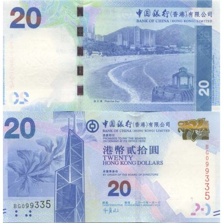 Billets banque Hong Kong Pk N° 341NEW 20 - 20 Dollars
